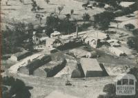 An aerial view of Broadford Mill, 1950