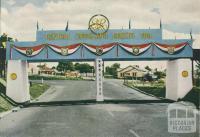 Traralgon's Railway Bridge Royal Tour Decorations, 1954