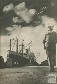 The 'South Africa Star' awaits loading, Geelong North, 1950