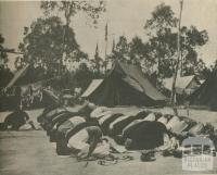 Pakistan and Malay contingents at the Pan-Pacific jamboree, Wonga Park, 1950