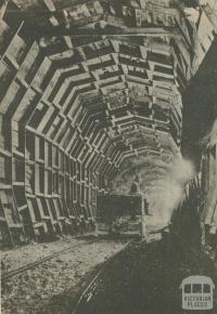 A tunnel for the Kiewa hydro scheme for electricity, 1950