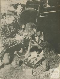 The opening of duck hunting season, Kerang, 1950