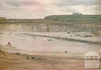 Limestone quarry, Batesford, 1970