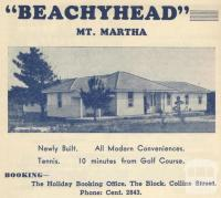 Beachyhead, Mount Martha, 1949