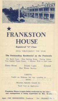 Frankston House, 1949