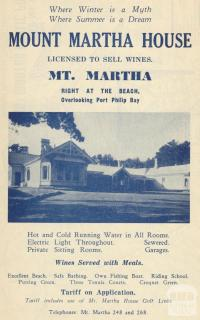 Mount Martha House, 1949