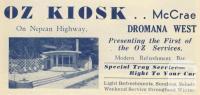 Oz Kiosk, Dromana West, 1949