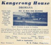Kangerong House, 1949