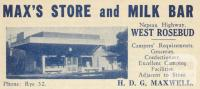 Max's Store, West Rosebud, 1949