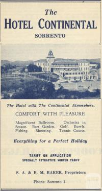Hotel Continental, Sorrento, 1949