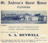St Andrews Guest House, Flinders, 1949