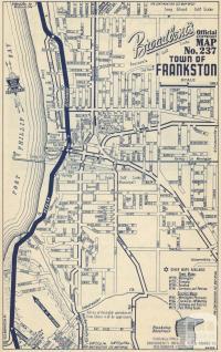 Map Frankston, 1949