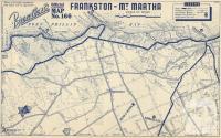 Map Frankston to Mount Martha, 1949