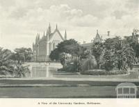 View of the University Gardens, Melbourne, 1900