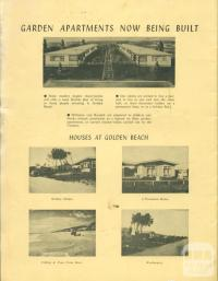 Garden apartments and houses, Golden Beach, 1965