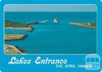 The April Hamer dredging the entrance, Lakes Entrance