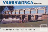 Yarrawonga Weir on the Murray River completed in 1939