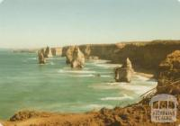 The Great Ocean Road,the stately 12 Apostles east of Port Campbell