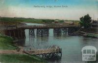 Maribyrnong Bridge, Moonee Ponds, 1910