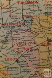 Violet Town shire map, 1924