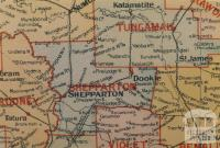Shepparton shire map, 1924
