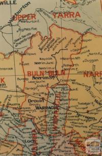 Buln Buln shire map, 1924
