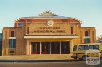 Soldiers Memorial Hall, Donald, 2000