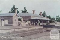 Clunes Railway Station, 1910