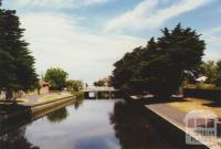 Elwood Canal, looking west from Addison Street, 2000