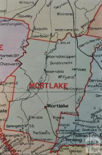 Mortlake shire map, 1924