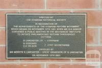 Plaque commemorating the Kyabram Reform Movement, 2002