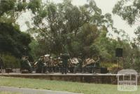 Band playing in Wattle Park, 2002