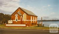 Nagambie Uniting Church beside lake, 2002