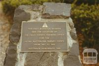 Burwood East reserve plaque, 2003