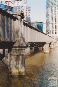 Sandridge rail bridge north west side, 2004