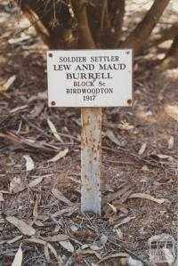 Marker at Merbein memorial garden, 2007