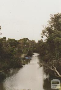 Kananook Creek north from Station Street, Seaford, 2008