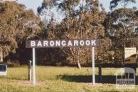 Barongarook railway sign, 2009