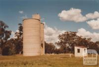 Shelbourne silos at former railway station site, 2009
