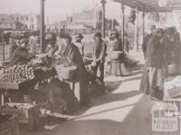 Queen Victoria market, West Melbourne, 1912