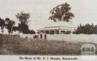 Mr D J Murphy's home, Runnymede, 1925