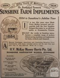 Sunshine Farm Implements, 1934