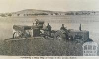 Harvesting wheat, Dookie district, 1949