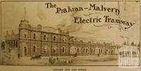 Prahran-Malvern Electric Tramway, Coldblo Road, 1909