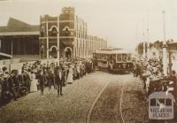 Coldblo Road tram depot, Prahran, 1909