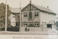 Mechanics' Institute, Footscray, 1921