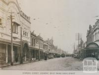 Hopkins Street looking west from Leeds Street, Footscray, 1924