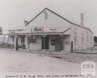 Original B & W Co-op store, Windermere, 1963