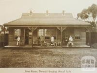 Mental hospital, Royal Park, Prahran, 1917
