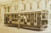 First electric tram, Chapel Street, South Yarra, 1926